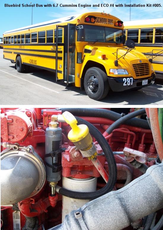bluebird school bus using eco systems
