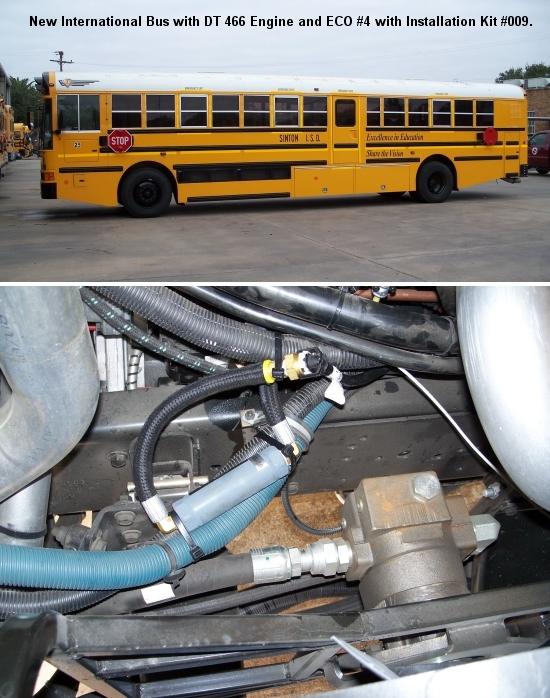 international school bus using eco systems